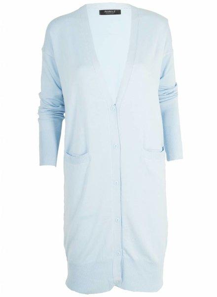 Rebelz Collection Vest Tess lang blauw