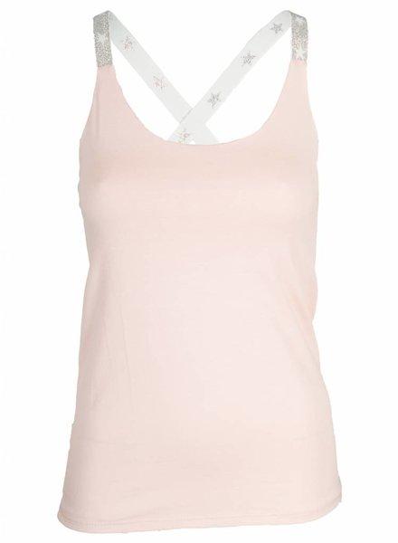 Gemma Ricceri Top kruisband zilver roze