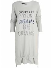 Sweater dress Dreams grijs