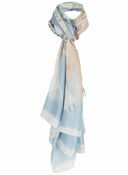 Sjaal Kelly blauw