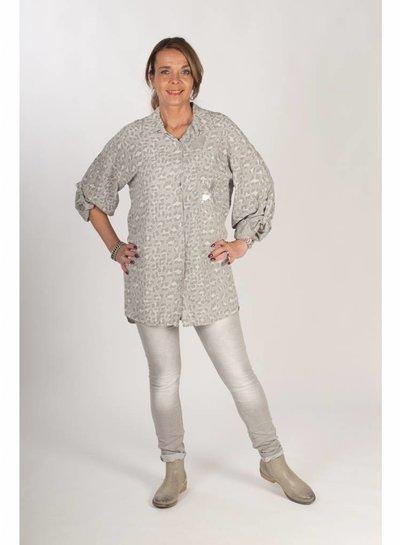 Gemma Ricceri Blouse leopard grijs