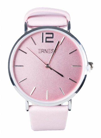 Horloge roze lederen band