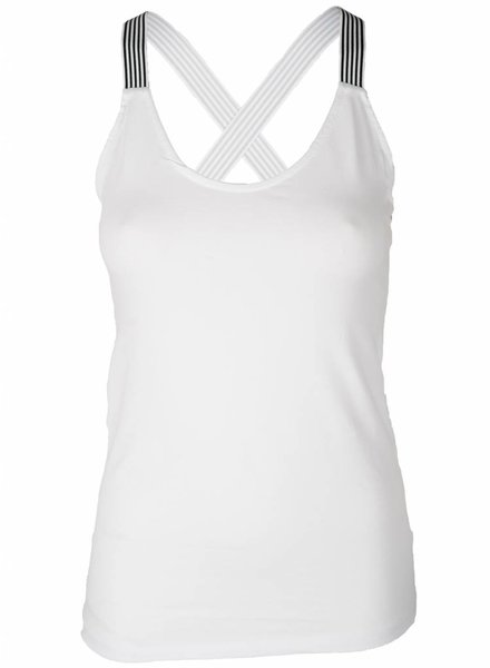 Gemma Ricceri Top streepband wit