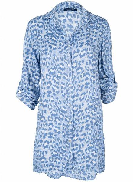 Gemma Ricceri Blouse leopard blauw