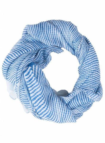 Sjaal Streep blauw