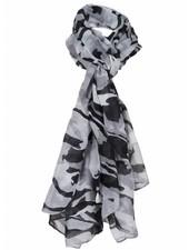 Sjaal Camouflage zwart/wit