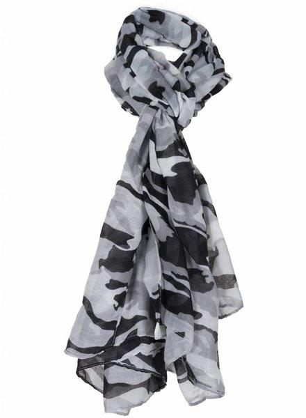 Sjaal Camouflage zwart/grijs