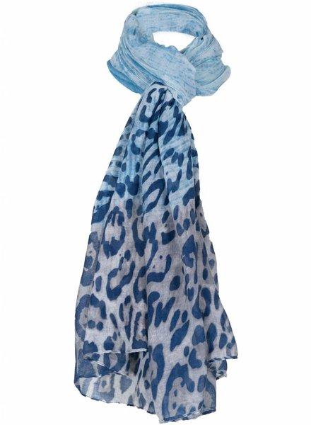 Sjaal Panter blauw