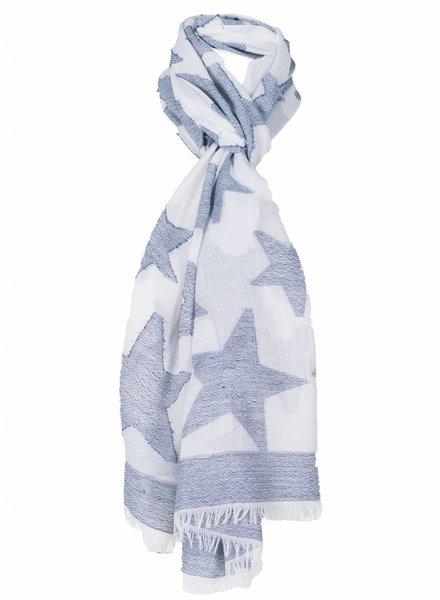 Sjaal Ster blauw