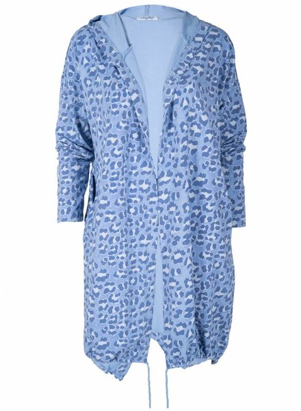 Gemma Ricceri Vest panter blauw