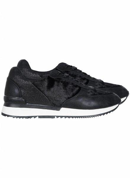 Sneaker velvet zwart
