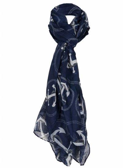 Sjaal Anker blauw
