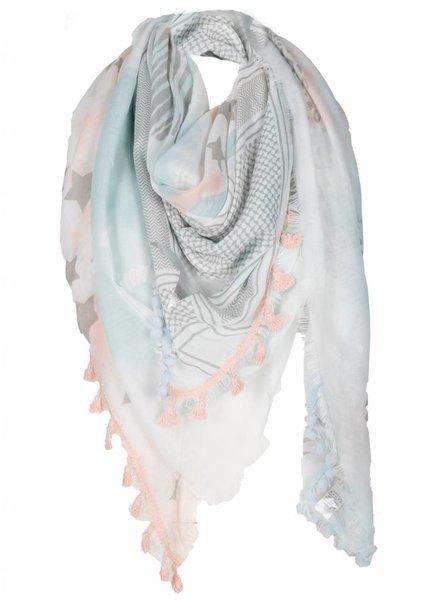 Sjaal Spring roze