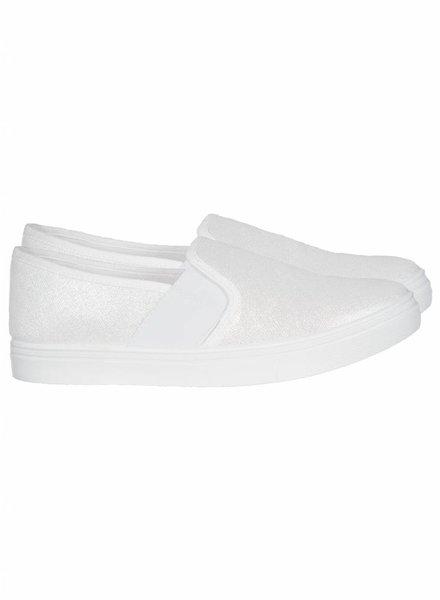 Bootschoen Zilver wit