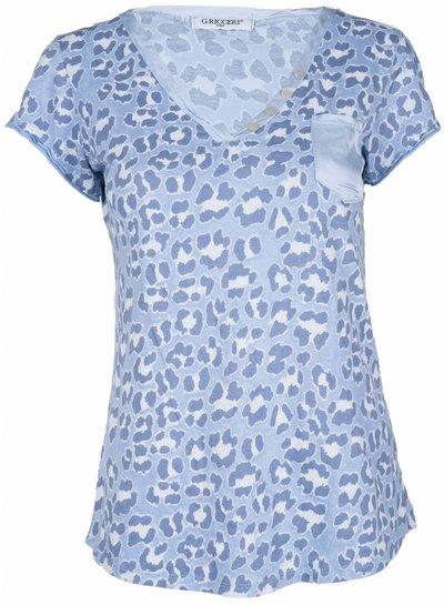 Gemma Ricceri Shirt Panter blauw