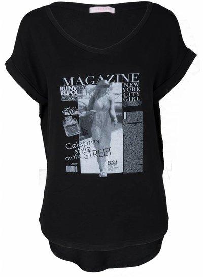 Gemma Ricceri Shirt Magazine zwart