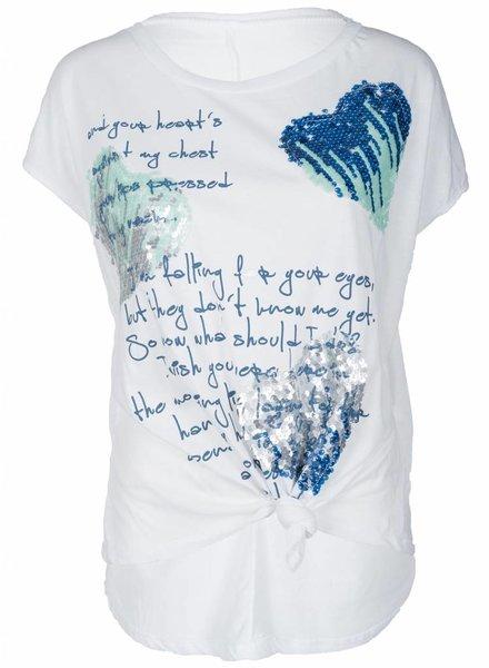 Gemma Ricceri Shirt knoop met print