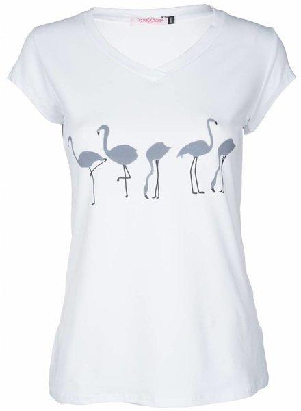 Gemma Ricceri Shirt Flamingo wit