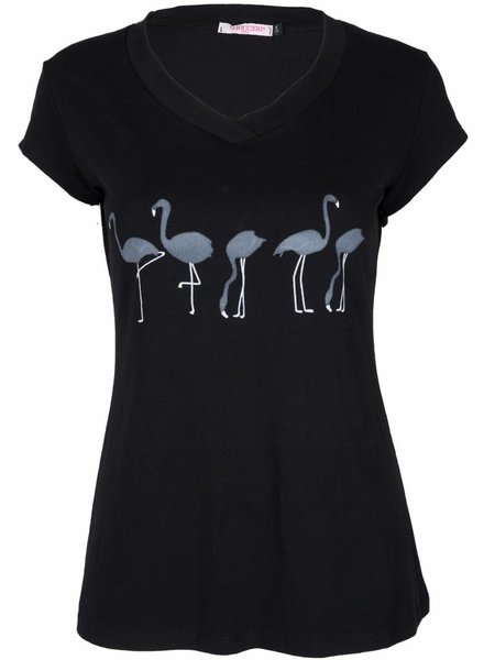 Gemma Ricceri Shirt Flamingo zwart
