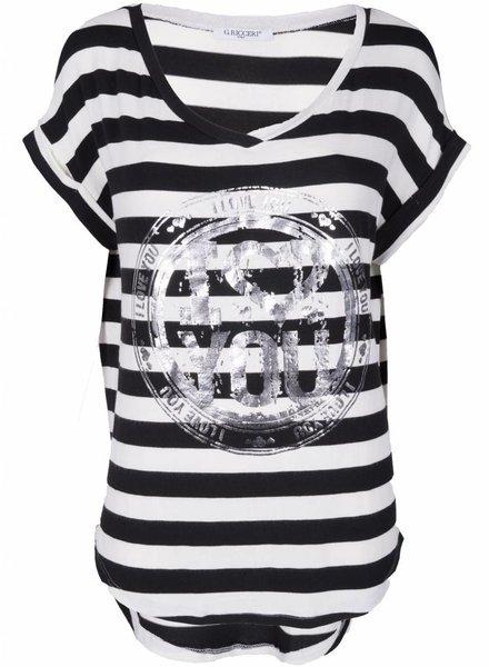 Gemma Ricceri Shirt Nina Love zwart