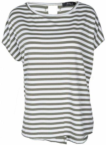 Rebelz Collection Shirt Hester groen/wit