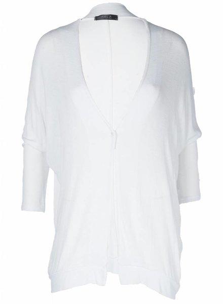 Rebelz Collection Vest Basic knoop wit