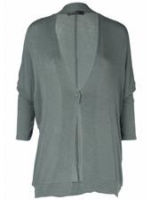 Rebelz Collection Vest Basic knoop groen