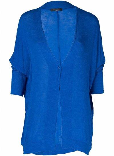 Rebelz Collection Vest Basic knoop kobalt