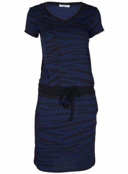 Gemma Ricceri Jurk Zebra blauw