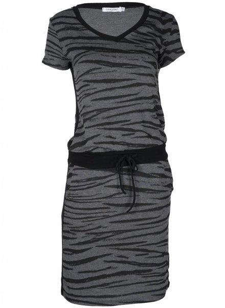 Gemma Ricceri Jurk Zebra zwart