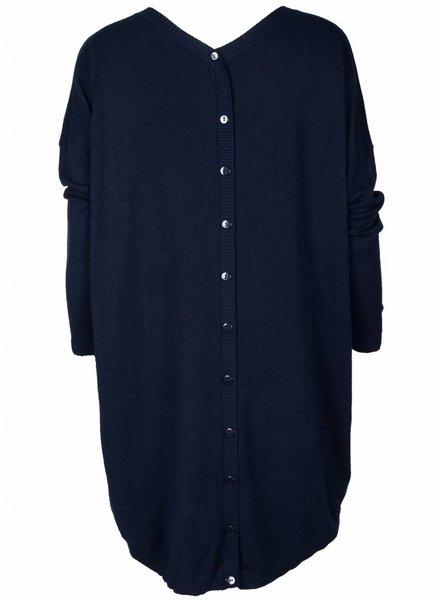Gemma Ricceri Trui Big Buttons blauw