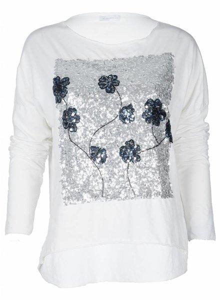 Gemma Ricceri Shirt Paillet Bloom wit