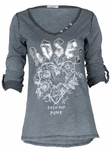 Gemma Ricceri Shirt Roses grijs