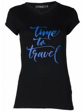 Rebelz Collection Shirt Time zwart/kobalt