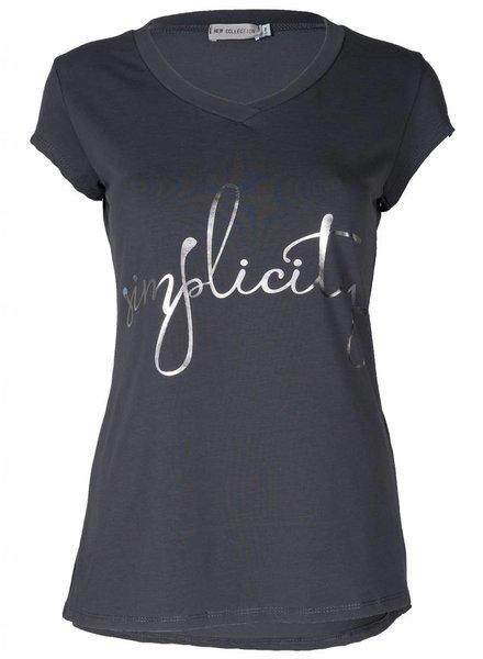 Gemma Ricceri Shirt Simplicity antraciet
