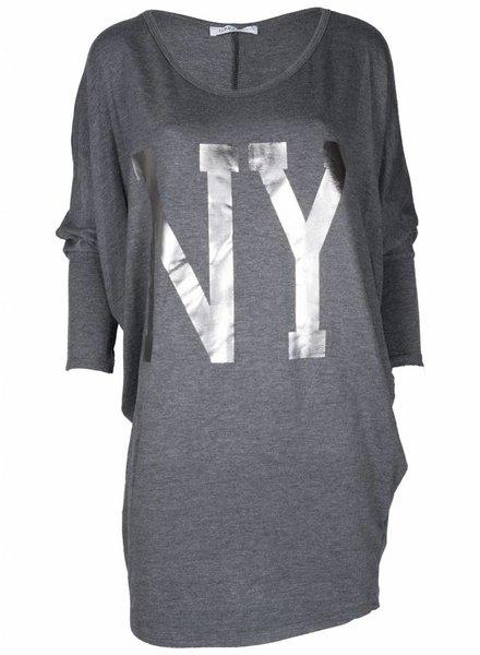 Gemma Ricceri Shirt Big NY grijs