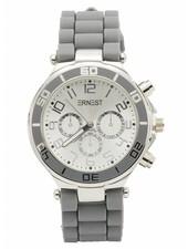 Horloge rubber grijs