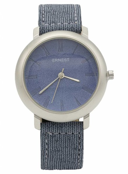 Ernest Horloge jeans blauw