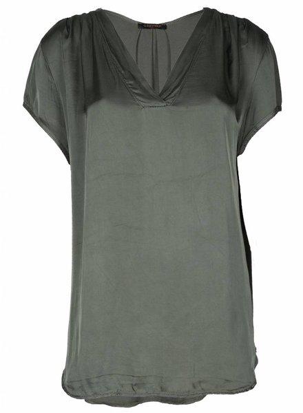 Gemma Ricceri Shirt Silk Touch v-hals army