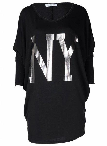 Gemma Ricceri Shirt Big NY zwart