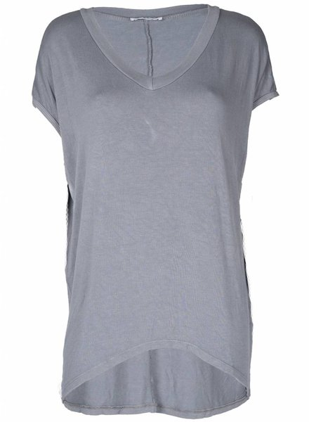 Rebelz Collection Shirt Big V-hals grijs