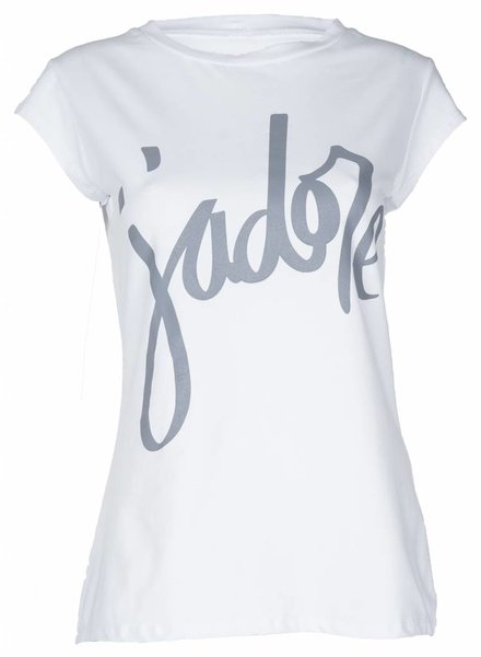Shirt Jadore wit/grijs