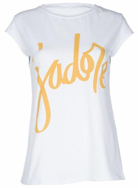 Shirt Jadore wit/geel