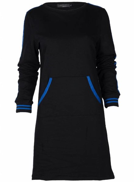 Rebelz Collection Sweater dress Shirley zwart/kobalt