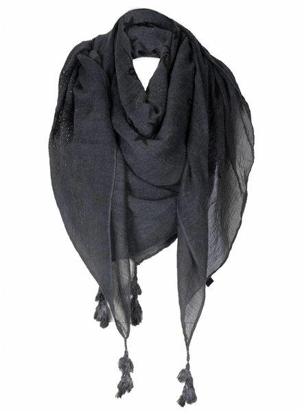 Sjaal Peace grijs