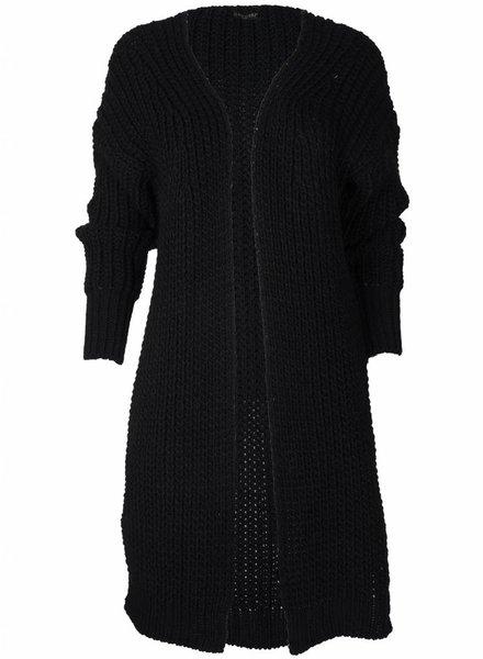 Gemma Ricceri Vest Grof gebreid zwart