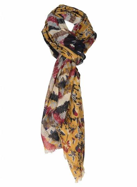 Sjaal Do okergeel/bordeaux