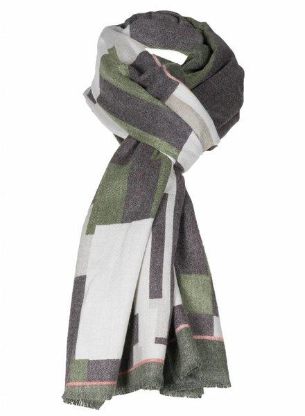 Sjaal Donna geblokt groen