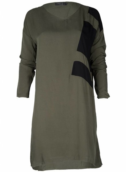 Rebelz Collection Tuniek Nina army/zwart
