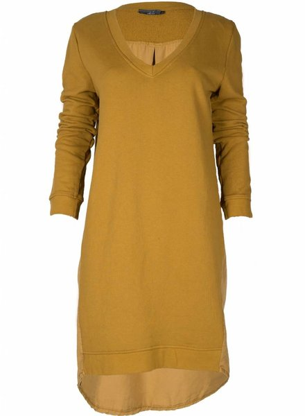 Rebelz Collection Sweater dress Hazel okergeel
